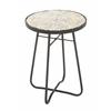 "Benzara Sturdy Metal Glass Round Floor Side Table 16""W, 23""H"