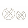 "Benzara Uniquely Styled And Stunning Aluminum Orb Set Of 2 10"", 8""D"