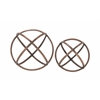 "Benzara Adorable And Uniquely Designed Aluminum Orb Set Of 2 10"", 8""D"
