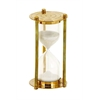 Benzara Metal Glass Sand Timer Lustrous And Metallic Finish