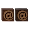 Distinctive Wood Block Symbol 2 Assorted