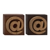 Benzara Unique Wood Block Symbol 2 Assorted