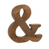 Benzara Exceptional And Bold Wood Symbol