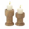 "Benzara Set Of 2 Lovely And Adorable Candle Holders 8"", 6""W"