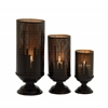 Benzara Alluring Set Of Three Metal Candle Holders