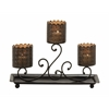 Fabulously Styled Metal Candle Holder Tray