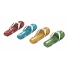 "Wonderful Aluminum Flip-Flops 4 Assorted 10""W, 2""H"