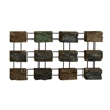 Modish Metal PS Wall Decor, Natural Wood & Black