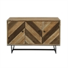 Alluring Wood Cabinet, Natural Wood & Black