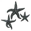 Enthralling PS Star Fish Wall, Dark Grey, Set Of Three