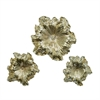 Gorgeous PS Wall Flower, Silver, Set Of 3