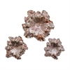 Attractive PS Wall Flower, Light Copper, Set Of 3