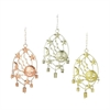 Eye-catching Metal Sun Windchime 3 Assorted, Silver And Copper
