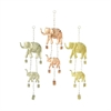 Alluring Metal Elephant Windchime 3 Assorted, Silver And Copper