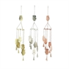 Cool Metal Owl Windchime 3 Assorted, Light Gold