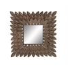 Benzara Distinctive Gem Metal Wall Mirror