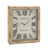 Benzara Timelessly Rustic Wood Wall Clock