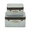 Benzara Classy Set Of Two Metal Boxes
