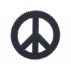 "Benzara Blue Wood Peace Sign 24""D"