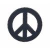 """Benzara Blue Wood Peace Sign 24""""D"""