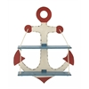 Benzara Lovely Anchor Themed Wooden Wall Shelf