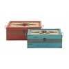 Benzara Chic Looking Set Of Two Metal Boxes