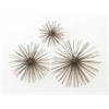 "Benzara Amazing Metal Wall Star Set Of 3 6"", 8"", 11""W"