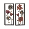 "Benzara Exceptional Metal Wall Decor 2 Assorted 16""W, 36""H"