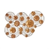 Astonishing Metal Wall Decor, Orange and Brown