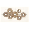 48667 Gorgeous Metal Mirror Wall Decor, Shades of Brown