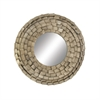 Charming Metal Wall Mirror, Beige