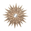 Jazzy Metal Wall Mirror, Beige