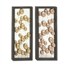 Amazing Metal Wall Decor 2 Assorted, Gold, Copper, Black