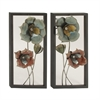 Charming Metal Wall Decor 2 Assorted, Multicolor