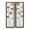 Appealing Metal Wall Decor 2 Assorted, Multicolor
