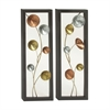 Fine-Looking Metal Wall Decor 2 Assorted, Multicolor