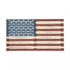 Patriotic Wood Flag Wall Decor, White, Blue & Red