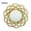 Enthralling Metal Wall Mirror, Gold