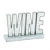 Enchanting Metal LED Wine Sign, White