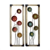 Attractive Metal Wall Decor, Multicolor, Set Of Two