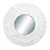 Benzara Inlay Mirror Circular Design Smoothly And Expertly Finish