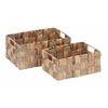 Benzara Wicker Basket With Spaciously Designed - Set Of 2