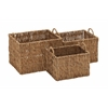 Benzara Just Lovely Seagrass Basket Set Of 3