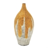 Classy Lacquer Bamboo Vase, Gold and White