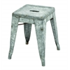 Benzara Classic Metal Galvanized Counter Stool (Small)