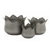 Enthralling Set Of 3 Metal Planter