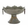 Benzara Remarkably Styled Metal Embossed Bowl