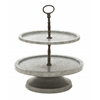 Benzara Amazingly Useful Metal 2 Tier Tray Stand