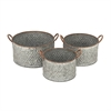 Charming Galvanize Planters, Gray, Set Of 3