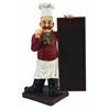 Benzara 36 Inches High Polystone Chef Chalkboard For Limited Edition